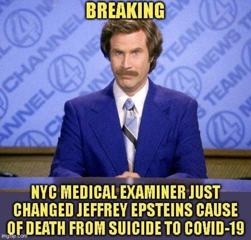 breaking new york medical examiner changed jeffrey epstein cause death covid 19