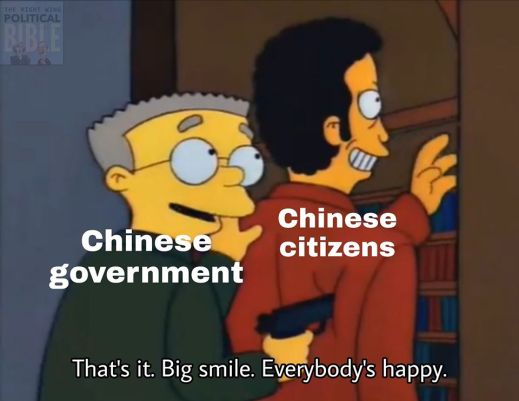 chinese government gun to citizens thats it big smile everybody is happy