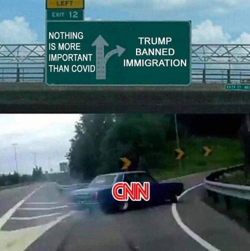 cnn nothing more important than covid trump banned immigration car turn