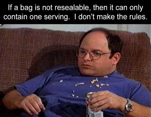 costanza bag is not resealable can only contain one serving