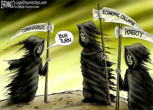 grim reaper coronavirus economic collapse poverty turn