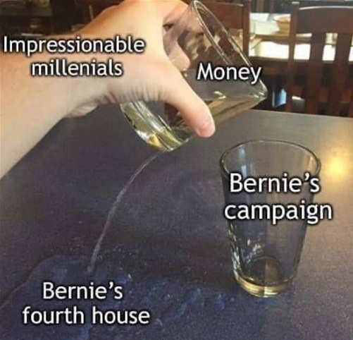 impressionable millenials putting money to bernie sanders 4th house