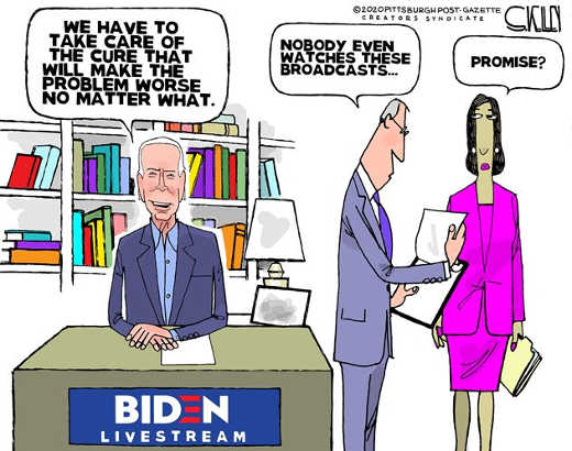 joe biden have to make sure cure make problem worse no matter what nobody watches