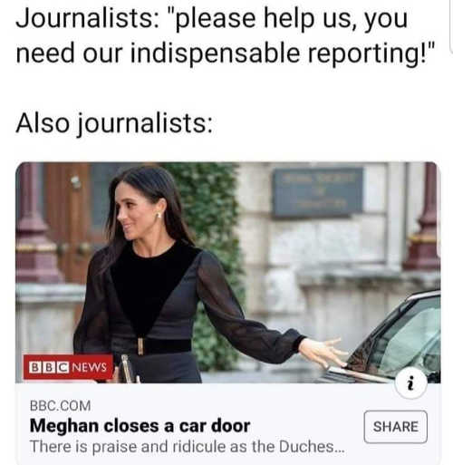 journalists please help us you need our indispensable reporting meghan closes a door
