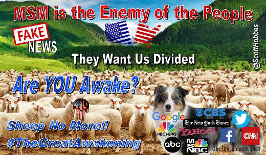 mainstream media is enemy of people are you awake cnn nyt post cbs abc msnbc google facebook