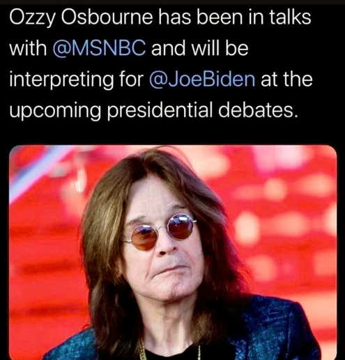 ozzy osbourne msnbc will be interpreting for joe biden next presidential debate