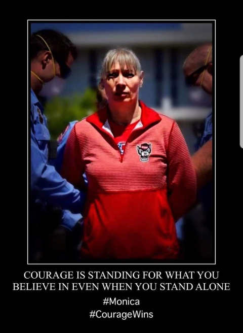 quote monica courage is standing for what you believe even if stand alone