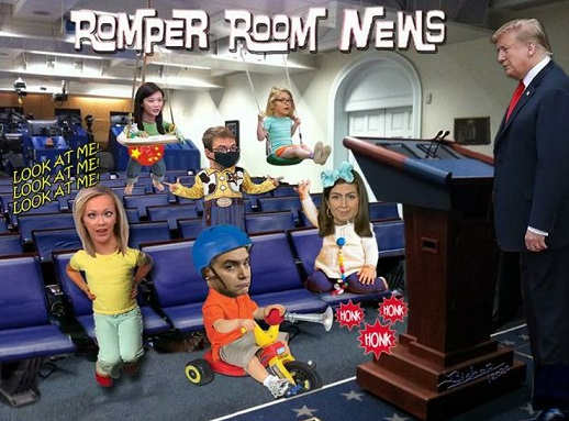 romper room news trump white house press corp cnn msnbc china jim acosta