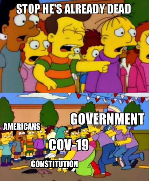 stop hes already dead simpsons cov19 government killing constitution