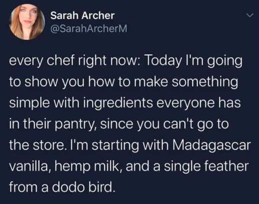 tweet sarah archer every chef make something simple madagascar vanilla hemp milk
