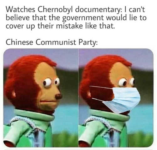 watches chernobyl cant believe government lie to cover up mistake chinese communist party mask
