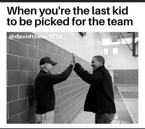 when youre the last kid to be picked for the team obama endorsing biden