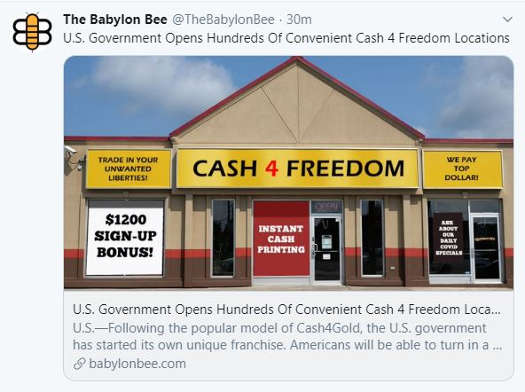 babylon bee cash for freedom stores opened by government 1200