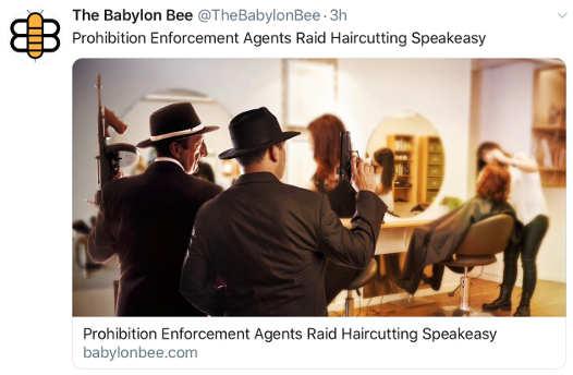 babylon bee prohibition agents raid haircutting speakeasy