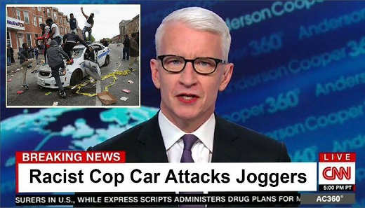 cnn racist cop car attacks joggers