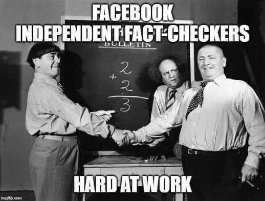 facebook fact checkers hard at work 3 stooges