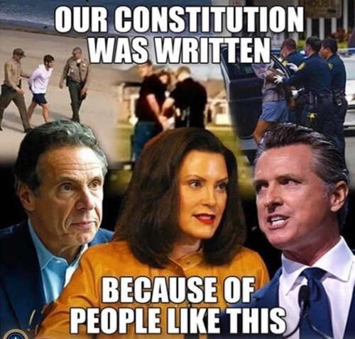 our constitution was written because of people like this whitmer cuomo newsom
