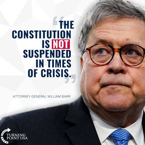 quote constiution not suspended in times of crisis barr
