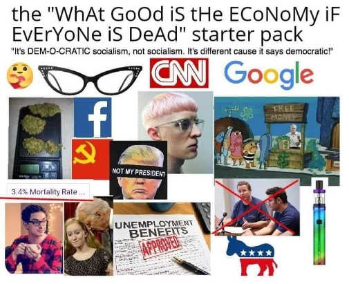 what good is economy democratic socialism starter pack cnn google facebook