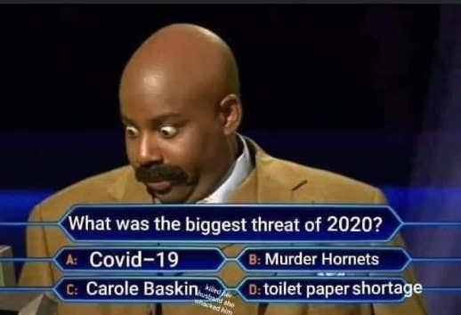 who wants to be millionaire biggest threat 2020 covid baskin hornets tp shortage