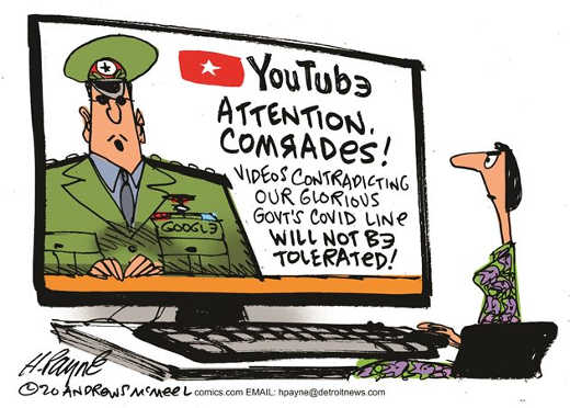 youtube attention comrades videos contradicting our glorious government covid line will not be tolerated