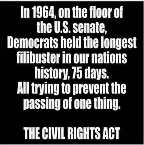 1964 longest democrat filibuster for civil rights act