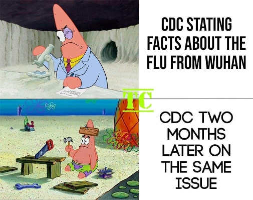 cdc facts about wuhan two months later sponge bob