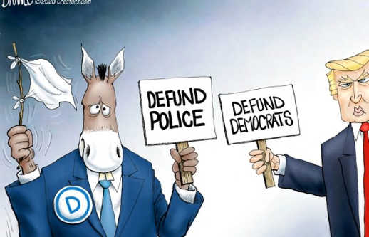 democrats defund police sign trump defund democrats