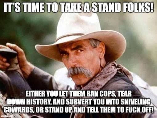 its time to take a stand will u let them ban cops destroy history