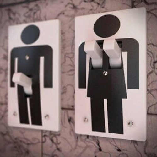 male female light switches hooters