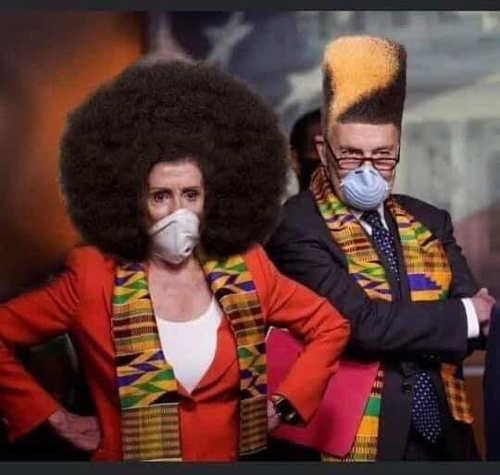 pelosi schumer african afros