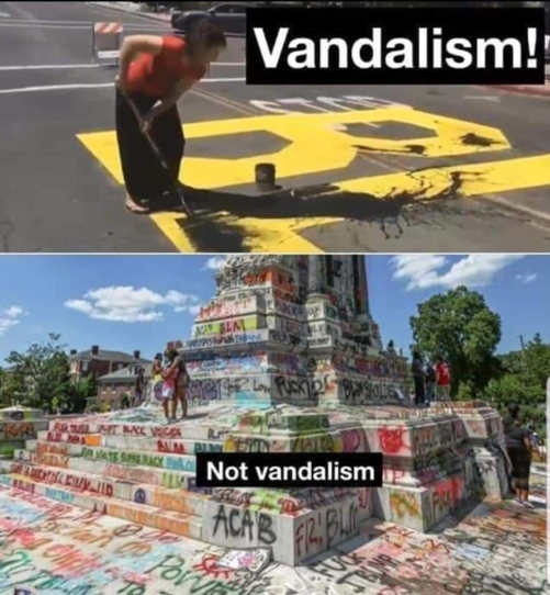 black lives matter vandalism monuments not vandalism