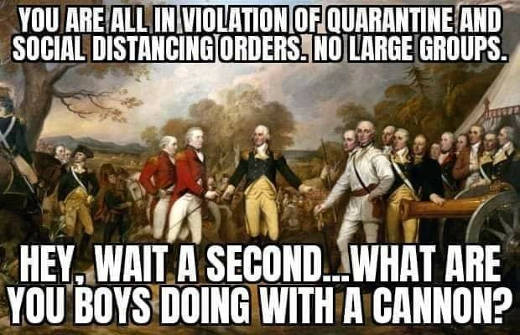 british you are in violation quarantine social distancing what are you boys doing with big cannon