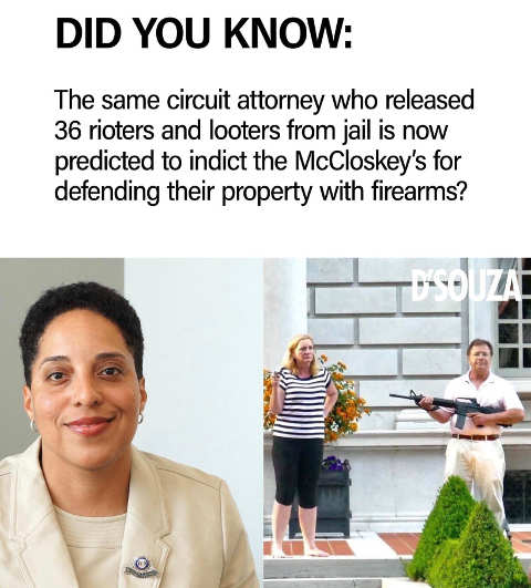 did you know same attorney released 36 rioters indict mccloskeys defending property