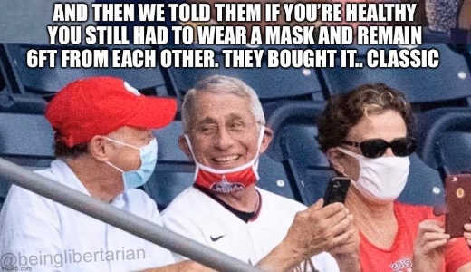 fauci told them still had to wear mask 6ft from each other they bought it classic