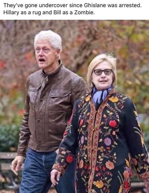 ghislane arrest clinton undercover hillary rug bill zombie