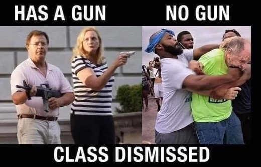 have gun no gun class dismissed defense couple