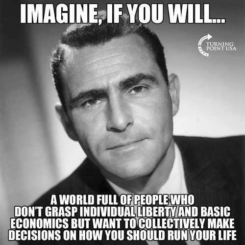 imagine if you will world people dont grasp liberty basic economics decide how you live
