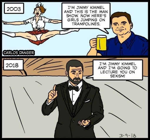 jimmy kimmel 2003 man show girls trampolines now lecture you on sexism