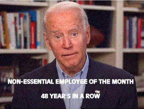 joe biden non essential employee of month 48 years in row