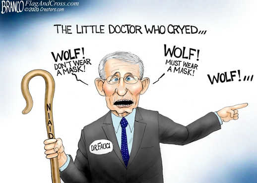 little doctor who cried wolf dont wear mask dr fauci niaid