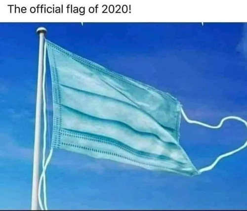 official flag of 2020 mask covid