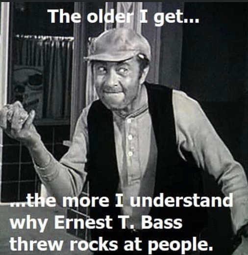 older i get more i understand why ernest bass threw rocks at people