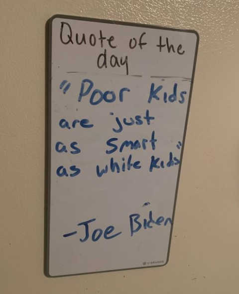 quote joe biden poor kids are just as smart as white kids