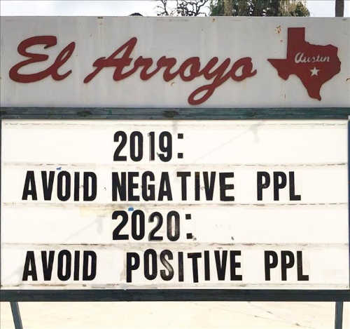 sign 2019 avoid negative people 2020 positive ones
