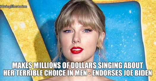 taylor swift milllions singing bad choices in men endorses joe biden