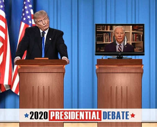 trump biden 2020 debate joe on tv