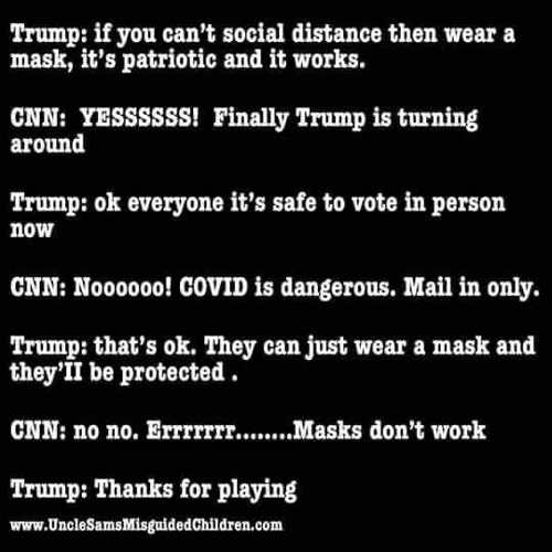 trump social distancing mask vote in person cnn covid