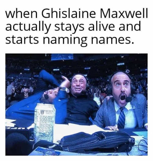 when ghislaaine maxwell actually stays alive and starts naming names excited