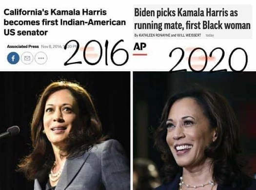ap headlines california kamala harris first indian american 2016 2020 first black woman